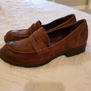 Born Leather Penny Loafers